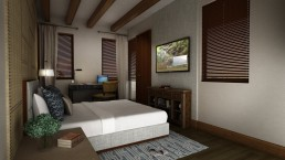 ALIGN3D - Resort Renderings - Anya Resort Tagaytay - Hotel Bedroom Rendering