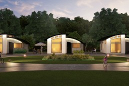 ALIGN3D 3D Rendering - The Flex House by Shelter Dynamics - Neighborhood