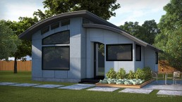 ALIGN3D 3D Rendering - The Flex House by Shelter Dynamics - Single Story Cottage