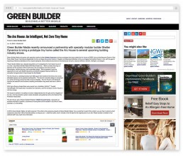 The Arc House 3D Rendering on Green Builder Media by ALIGN3D