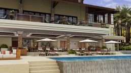 ALIGN3D - Resort Renderings - Anya Resort Tagaytay - Clubhouse and Swimming Pool