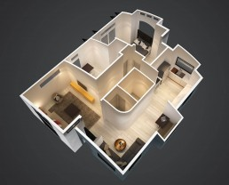 ALIGN3D 3D Rendering - The Flex House by Shelter Dynamics - 3D Floor Plan