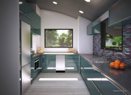 ALIGN3D 3D Rendering - The Flex House by Shelter Dynamics - Kitchen