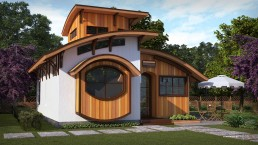 ALIGN3D 3D Rendering - The Flex House by Shelter Dynamics - Single Story with Crow Nest